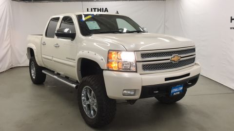 Pre-Owned 2013 CHEVROLET SILVERADO 1500 4WD CREW CAB 143.5 LTZ Four Wheel Drive Short Bed