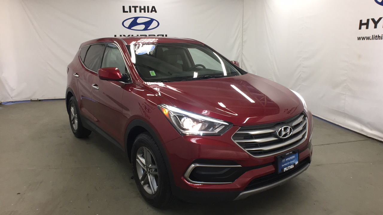 Certified Pre-Owned 2017 HYUNDAI SANTA FE SPORT 2.4L AUTOMATIC AWD